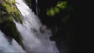 WATCH: US man drops down 3 waterfalls and survives