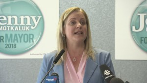 Winnipeg mayoral candidate Jenny Motkaluk outlines platform priority number three.