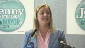 Winnipeg mayoral candidate Jenny Motkaluk outlines platform priority number three.