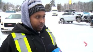 Tow truck drivers speak about 'crazy' multi-car crash on 401 near Milton