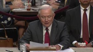 Emotional Jeff Sessions denies any collusion with Russian government