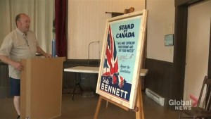 One of a kind campaign poster for Canada's only New Brunswick born Prime Minister unveiled