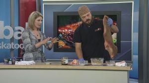 Gator BBQ prepares a brisket for Saskatoon Ribfest