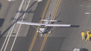 Small plane makes emergency landing on California street