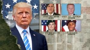 Donald Trump tweets Democrat politician 'fabricated' what he told soldier's widow