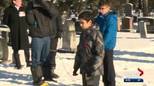 Hundreds of Edmonton students take part in No Stone Left Alone initiative