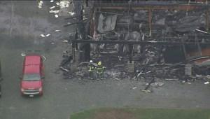 Langley garage fire: aerials