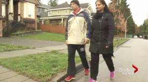 Surrey couple attacked by two pit bulls are fighting back (01:43)