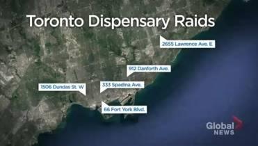 Toronto police raid 5 marijuana dispensaries as retail
