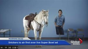 Super Bowl gets first ever live ad