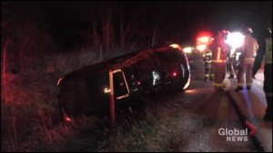 Woman injured following rollover on Highway 115 south of Peterborough