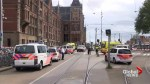 2 stabbed, suspect shot at Amsterdam train station