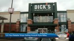 U.S. sporting goods retailer Dick's stops selling assault-style rifles