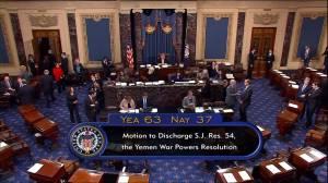 U.S. Senate votes to consider ending military support for Saudi Arabia in Yemen