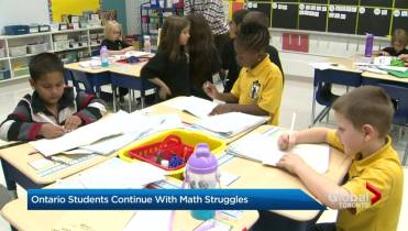 ontario math test scores for elementary school students not