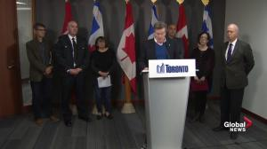 Toronto mayor discusses preparation, possible flooding in GTA