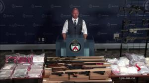 Toronto police provides details of drugs and firearms investigation called Project Switch