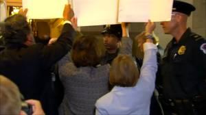 U.S. Democratic lawmakers protesting separation of immigrant families ambush Trump after meeting