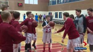 Sherwood Park teen with inoperable brain tumours living out basketball dream