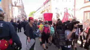 People march through streets of Quebec City in protest of G7 summit