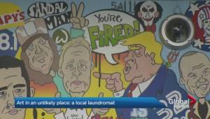 Famous faces decorate Toronto laundromat