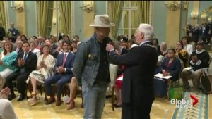 Tragically Hip front man Gord Downie awarded one of Canada's top honours