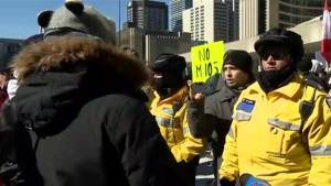 Planned protests in Nathan Phillips Square spark confrontation