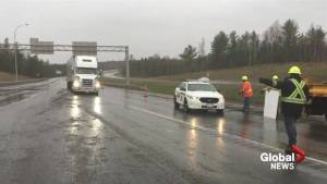 Closure of section of TransCanada Highway due to flooding impacting truckers