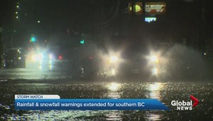 Metro Vancouver rainfall warning: 70 to 90 mm of rain expected in some areas
