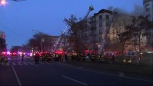 Firefighters battle 5-alarm blaze in New York City