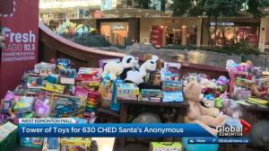 Tower of Toys growing at West Edmonton Mall