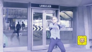 Montreal man dances in front of Metro stations