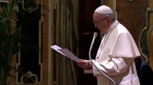Pope Francis warns energy bosses of global destruction without fuel shift