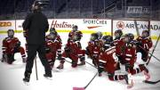 Play video: St. Boniface Seals get surprise from the Winnipeg Jets