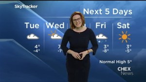 Chance of flurries overnight, mix of sun and cloud Tuesday