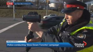 Toronto police launch campaign aimed at getting drivers to slow down