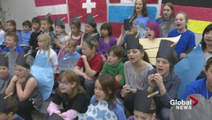 Calgary students join together in song to help save their unique school
