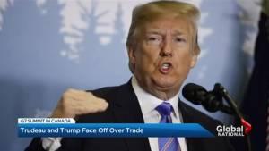 Trump blasts G7 allies before blasting off from summit