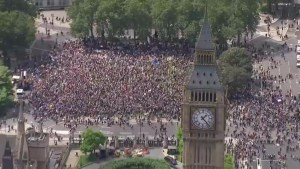 Thousands rally in London against Brexit vote