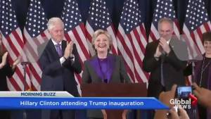 Hillary Clinton to attend Trump's inauguration