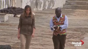 U.S. first lady Melania Trump tours 'slave castle' in Ghana