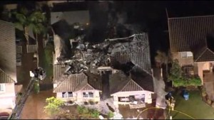 Aftermath of small plane crash into Arizona home