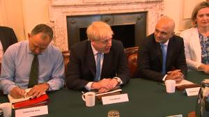 Boris Johnson meets with pro-Brexiteer cabinet for first time