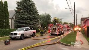 Lightning sparks Gordon Avenue fire