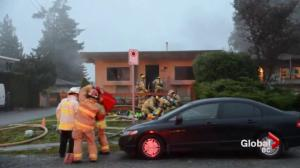 Man seriously injured in Burnaby duplex fire