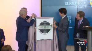 Trudeau, Alex Trebek open Geography and Exploration Centre in Ottawa