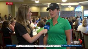 Cassie Campbell-Pascall in Calgary for 2017 Shaw Charity Classic