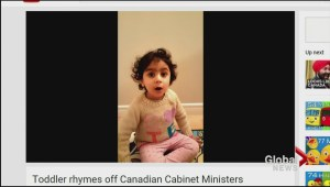 Moncton toddler's political smarts grabbing attention on Parliament Hill