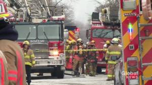 Montreal firefighters tackle two separate fires in Verdun (01:46)
