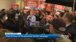 NDP Leader Andrea Horwath hits the road for busiest day of campaign